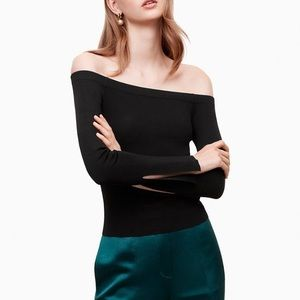 Aritzia Little Moon off shoulder ribbed top